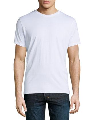 Short-Sleeve Crewneck Tee, White
