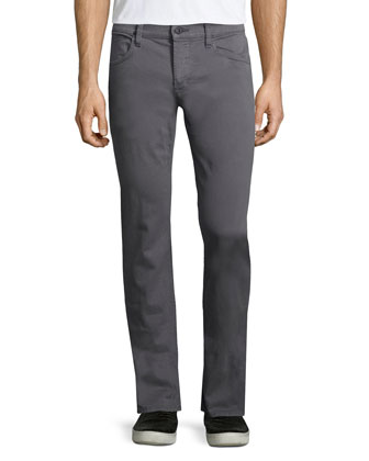 Blake Bishop Slim-Straight Jeans, Medium Gray