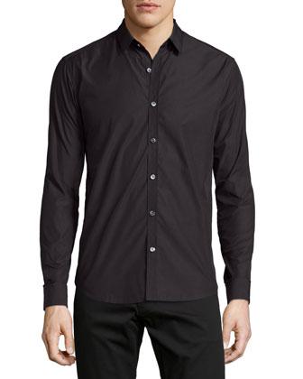 Zack PS Armorel Textured Sport Shirt, Black