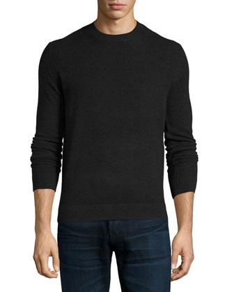 Vetel 2 Cashmere Long-Sleeve Sweater, Black