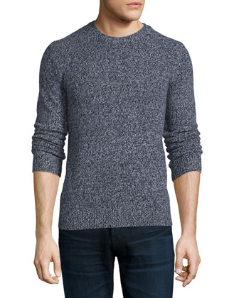 Riland Gravels Marled Wool-Blend Sweater, Navy