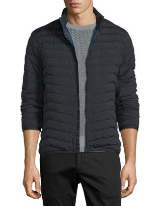 Collet Extent Zip-Up Puffer Jacket, Black