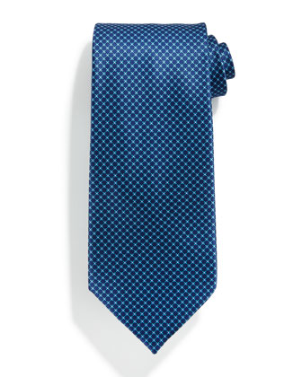 Neat Medallion-Print Silk Tie