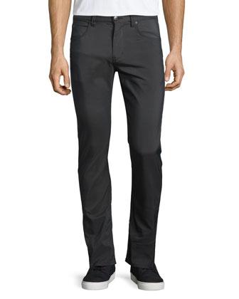 Five-Pocket Straight-Leg Trousers, Dark Blue