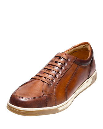 Varton Sport Leather Oxford Sneaker, Tan