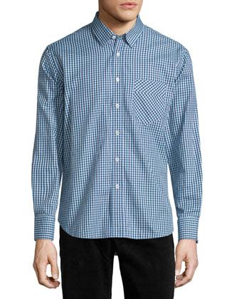 Walland Plaid Long-Sleeve Sport Shirt, Blue