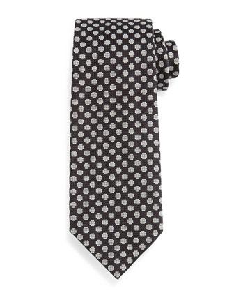 Large-Dot Patterned Tie, Black