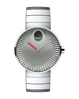 40mm Edge Watch with Link Bracelet, Silver
