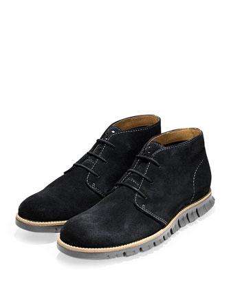 ZeroGrand Suede Chukka Boot, Black