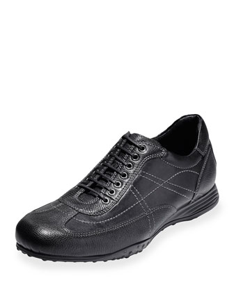 Granada Sport Leather Oxford Sneaker, Black