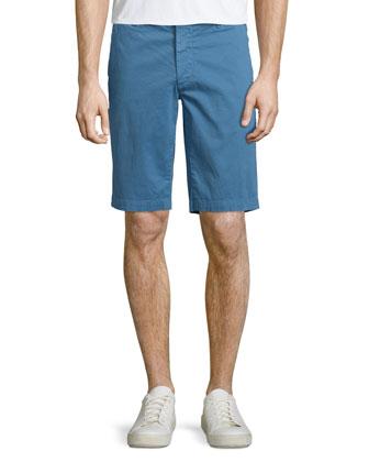 Griffin Salton Flat-Front Shorts, Sky Blue