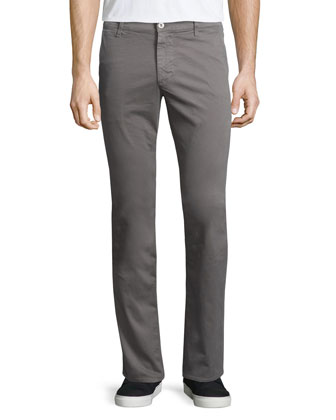 Lux Slim-Fit Chino Pants, Gray