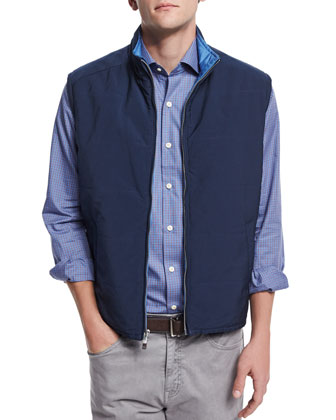 Pamlico Reversible Quilted Vest, Navy