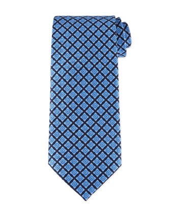 Neat Square Printed Silk Tie