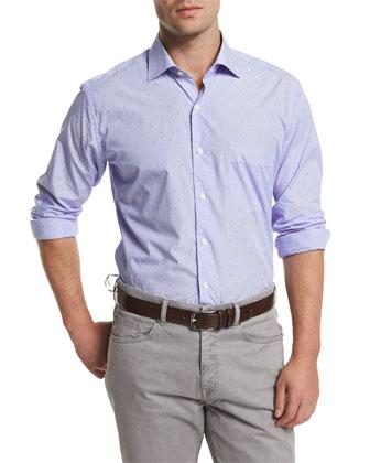 Suede Button-Down Shirt Jacket, Beige