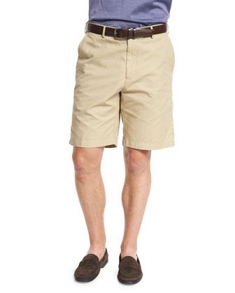 Soft Touch Cotton Shorts, Khaki