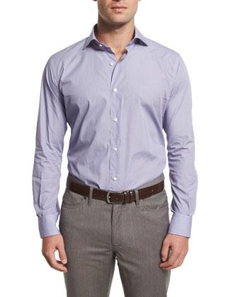 Textured Quarter-Zip Pullover Sweater, Viola