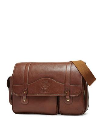 Fielding No. 137 Leather Messenger Bag, Vintage Chestnut