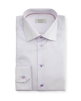 Contemporary-Fit Micro-Stripe Dress Shirt, Lavender