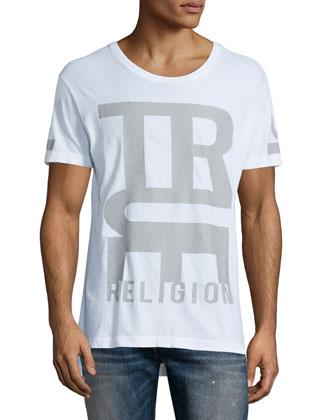 Logo-Graphic Short-Sleeve Tee, White