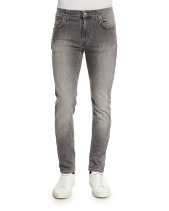 Thin Finn Dark Pavement Skinny-Leg Jeans, Light Gray