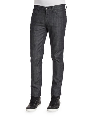 Grim Trim Dry Clean Denim Jeans, Dark Blue