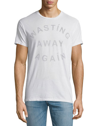 Wasting Away Again Graphic Short-Sleeve Tee, White