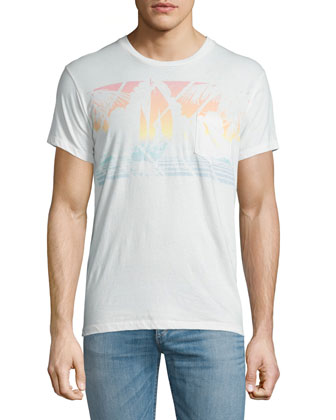 Mystic Sail Graphic Short-Sleeve Tee, White