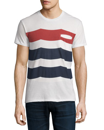 American Welt Waves-Graphic Short-Sleeve Tee, White