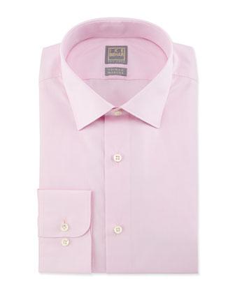 Solid Chambray Dress Shirt, Pink