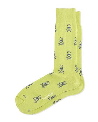 Allover Bunny-Print Socks