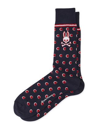 Stripes & Dots Printed Socks
