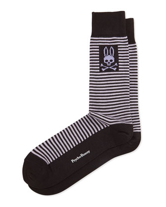 Thin-Striped Socks