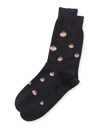 Multi Polka-Dot Printed Socks