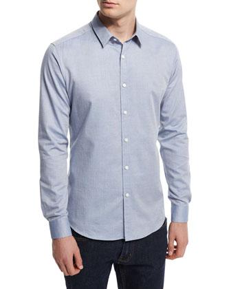 Zack PS Altona Solid Sport Shirt, Light Blue