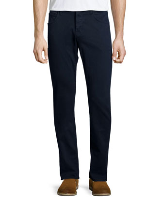 Blake Covert Blue Slim-Straight Denim Jeans, Navy