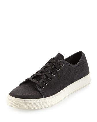 Austin Leather Low-Top Sneaker, Black