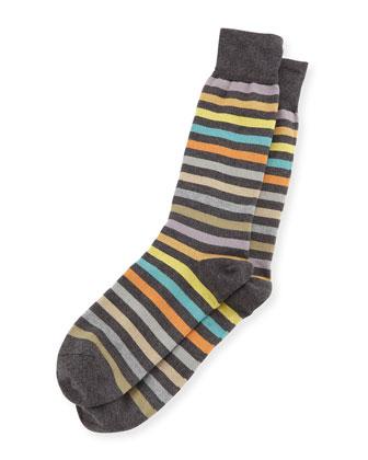 Twisted Bright Striped Socks