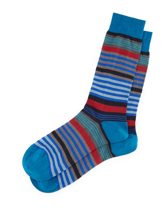 Searle Multi-Striped Dress Socks