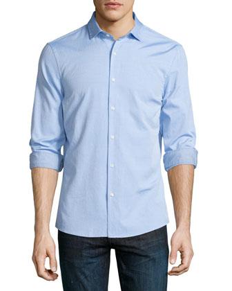 Slim-Fit Long-Sleeve Oxford Shirt, Light Blue