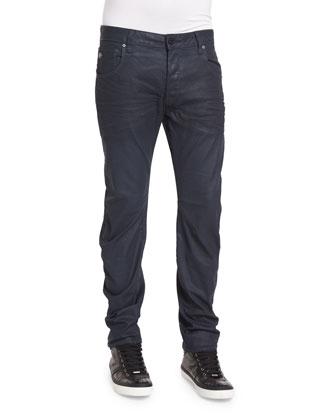 Arc 3D Dark Aged Slim Denim Jeans, Navy