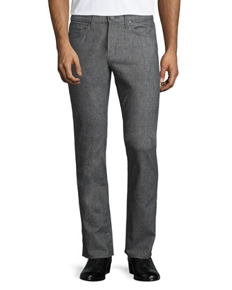 Kane Washed Melange Stretch Jeans, Gray