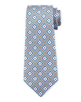 Grenadine Square-Medallion Printed Tie