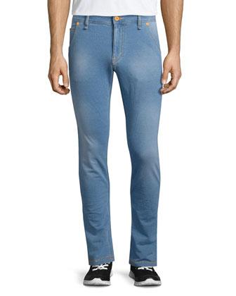 Five-Pocket Slim-Fit Jeans, Denim