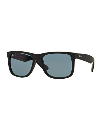 Ray-Ban Flat-Top Plastic Sunglasses, Black