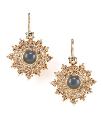 Champagne Diamond Bull's Eye Earrings