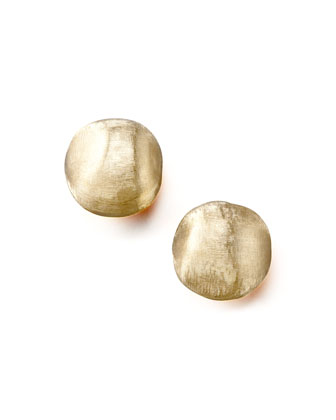 Textured Gold Stud Earrings, Small