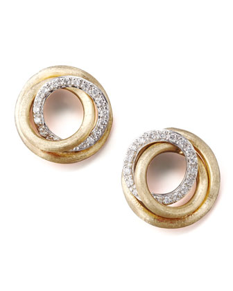 Jaipur Diamond-Link Stud Earrings