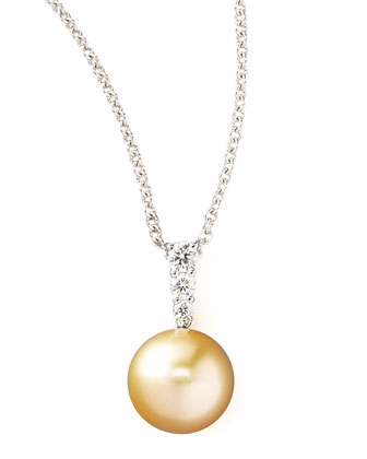 Pearl & Diamond Pendant Necklace