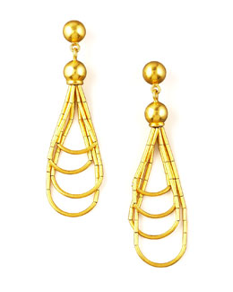 Gurhan Gold Beaded Drop Earrings